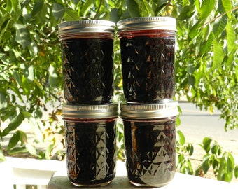 Wild Mountain Huckleberry Jam, small batch, hand picked wild crafted huckleberries, Oregon made, Pacific Northwest jams