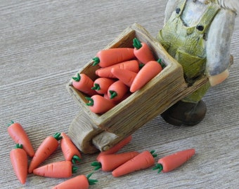 Toys & Hobbies Dollhouse Accessories Mini Handcrafted Clay Fruits Doll House Miniature Vegetables Carrot For Doll Kitchen Doll Houses