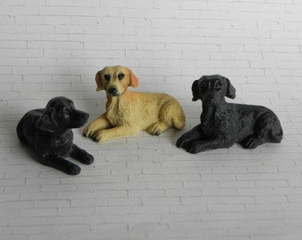 Black Labrador Dog  Miniature Dollhouse Picture