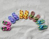 Miniature Flip Flops ONE PAIR - Fairy Garden supply - fairy shoes - beach garden supplies - fairy garden accessories
