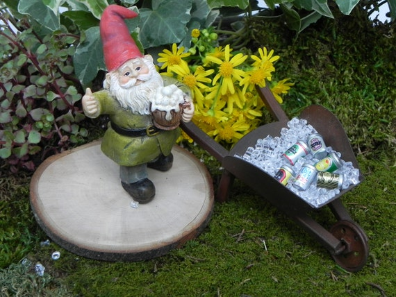 Miniature Gnome With Beer Mug Fairy Garden Accessories | Etsy