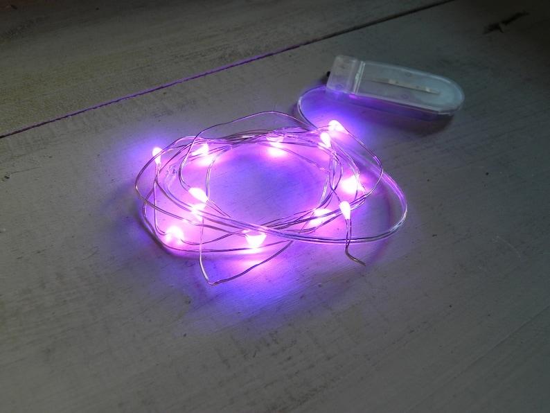 Fairy Lights 12 Led Purple Miniature 4 5 Feet Long 12 Lights Etsy