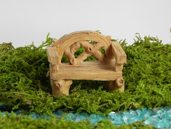 Fairy Garden Bench Accessories TINY Furniture Miniature | Etsy