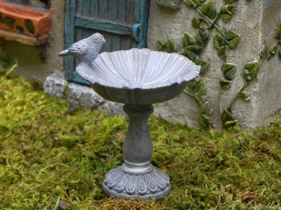 Fairy Garden Birdbath With Bird Miniature Bird Bath With Wire | Etsy