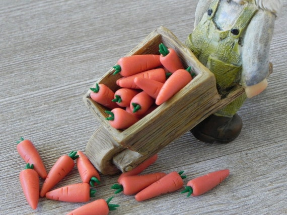 5x Carrot Dollhouse Miniature Food Vegetables Kitchen Tiny Fairy Garden Deco Lot