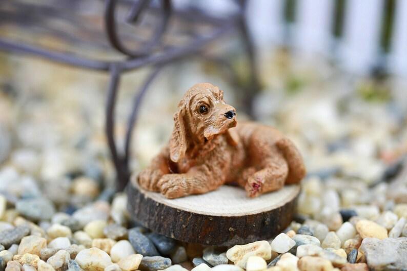 Miniature Dollhouse FAIRY GARDEN Cocker Spaniel Puppy Accessories