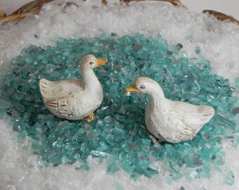 Fairy garden accessories - supply - duck - terrarium supplies - craft supply - DIY farmyard - miniature farm animals - mini garden supplies