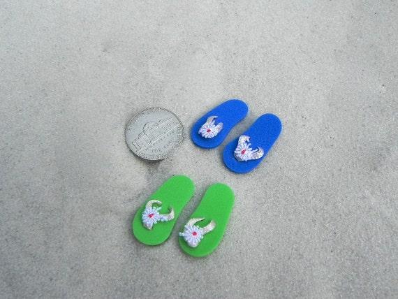 Miniature Flip Flops One Pair Fairy Garden Beach Scene Etsy