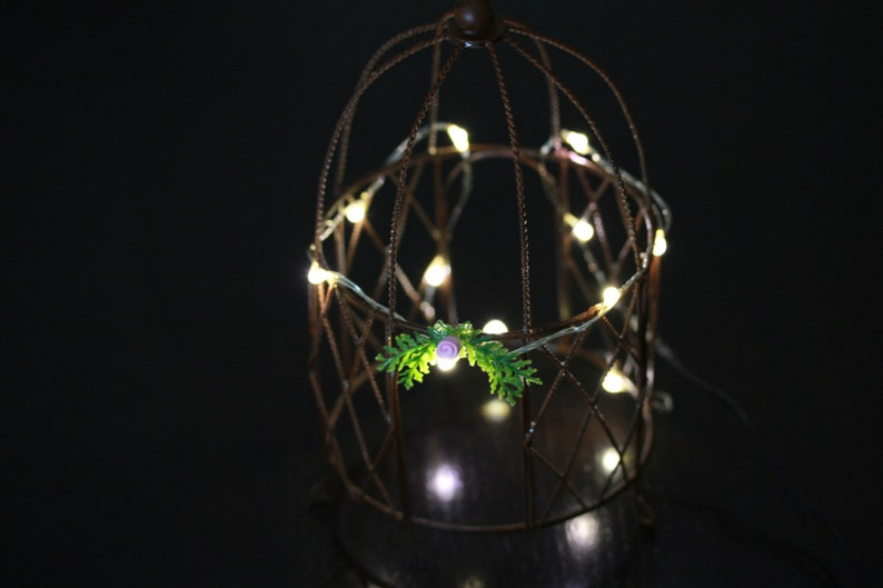 Fairy Lights 12 Led Warm White Miniature 4 5 Feet Long 12 Etsy
