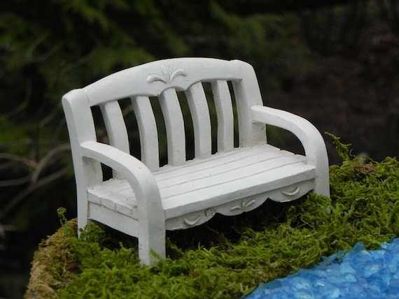 Miraculous Fairy Garden Bench Miniature White Resin Accessories Accessory Supply For Terrarium Supplies Fairy Bench Mini Garden Supply Ncnpc Chair Design For Home Ncnpcorg