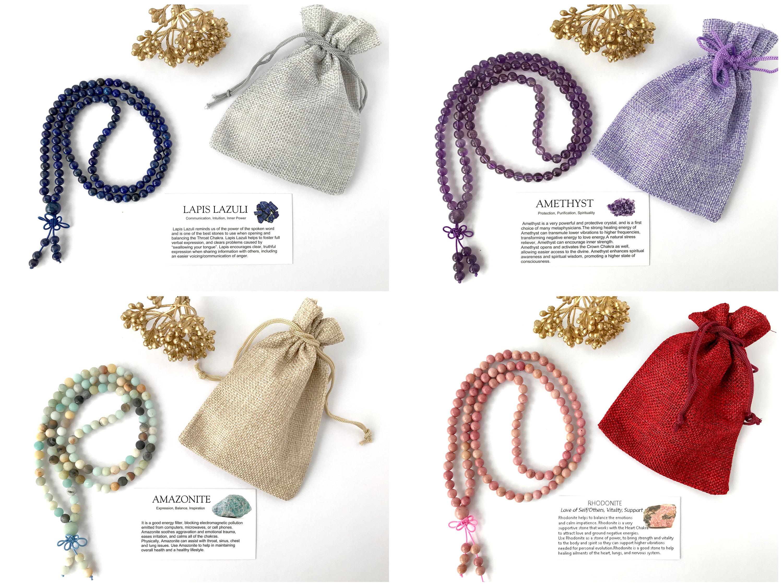 Mala Beads 108, Mala Necklace, Mala Bracelet, Gemstone Bracelet, Yoga  Gifts, Meditation Prayer Bracelet, Yoga Bracelet, Birthday Gifts