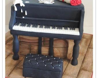 Piano Cake PDF Tutorial
