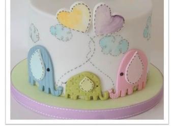 Little Elephants Cake PDF Tutorial