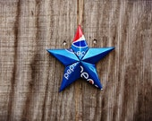 Upcycled Pepsi or Diet Pepsi Soda Can Star Ornament