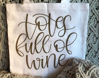 Hand Lettered Canvas Tote