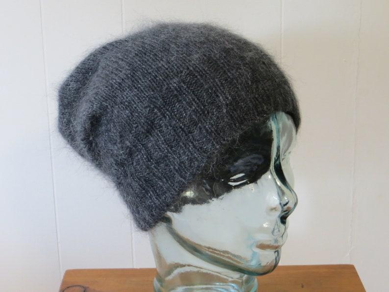 f2030c68 CHARCOAL CASHMERE HAT Beanie men women folded brim cashmere | Etsy