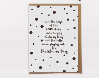 Fairytale of New York Christmas card