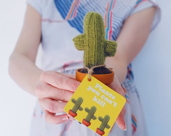 Mini knitted cactus