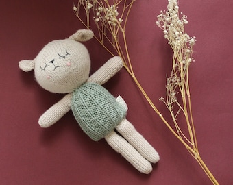 Jamie the Knitted Lamb