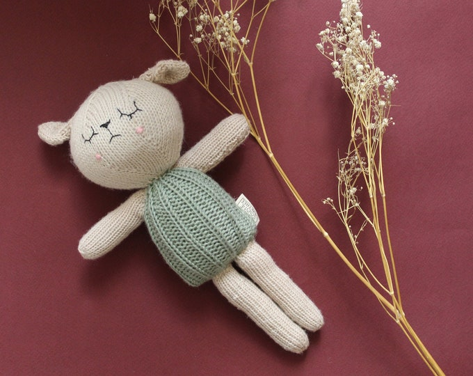 Featured listing image: Jamie the Knitted Lamb