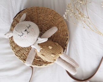 Maebelle the Knitted Lamb