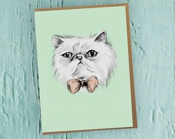 Funny Grumpy cat card