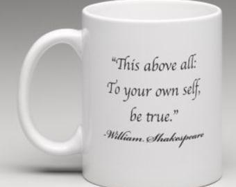 SHAKESPEARE MUG-IMAGE - coffee, tea mug
