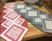 Francis table runner - PDF PATTERN -Upgrade to video tutorial available