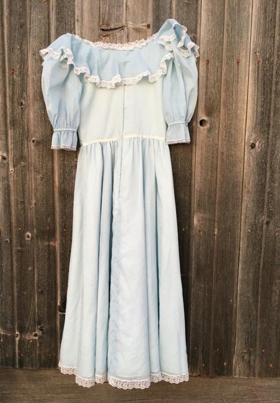 Rare size 15 dress light blue Gunne Sax cottageco… - image 2