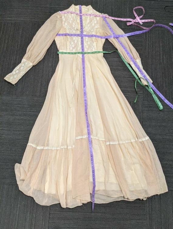 Size 13 Gunne Sax cottagecore vintage boho dress … - image 6