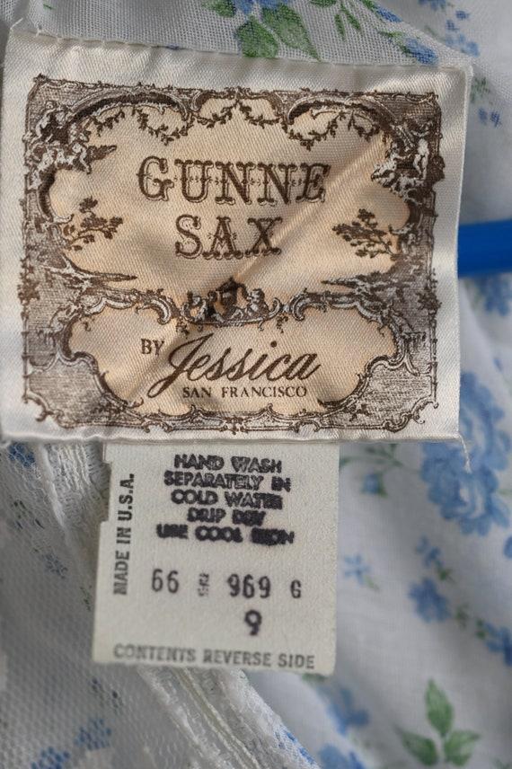 Vintage Gunne Sax blue prairie dress size 9 cotta… - image 4