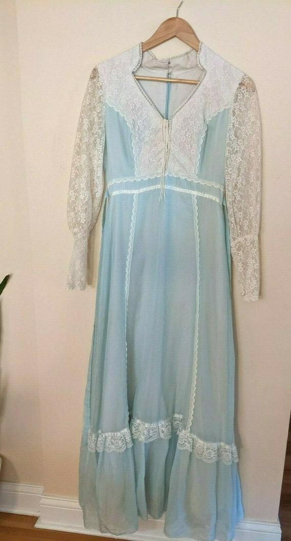 vintage 1970's Gunne Sax Style Cottagecore Dress P
