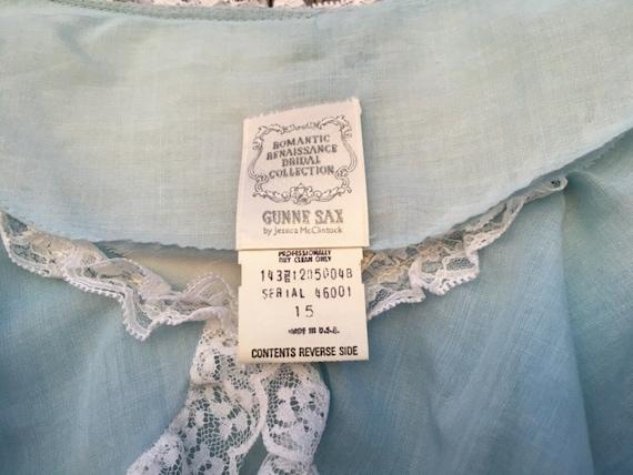Rare size 15 dress light blue Gunne Sax cottageco… - image 3