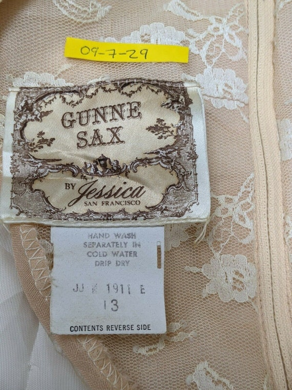 Size 13 Gunne Sax cottagecore vintage boho dress … - image 4