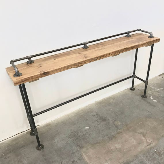 FREE SHIPPING Lenus Counter Table Reclaimed Wood with Top Rail 108