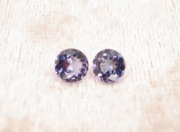 Belle paire de VVS - ronde de de de 5,4 mm Tanzanite - poids Total en carats 1.20 f9848e