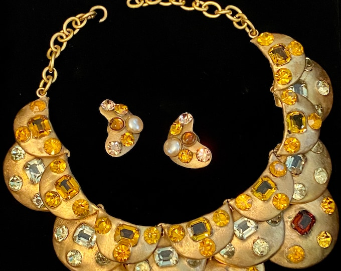 Featured listing image: 1960s Luciana Aloisi de Reuten di Rome,  Italy Necklace and Earrings from Ginger Moro collection