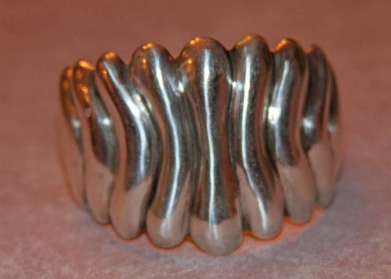 Vintage Mexican Sterling Taxco Cuff Bracelet,Designer Style