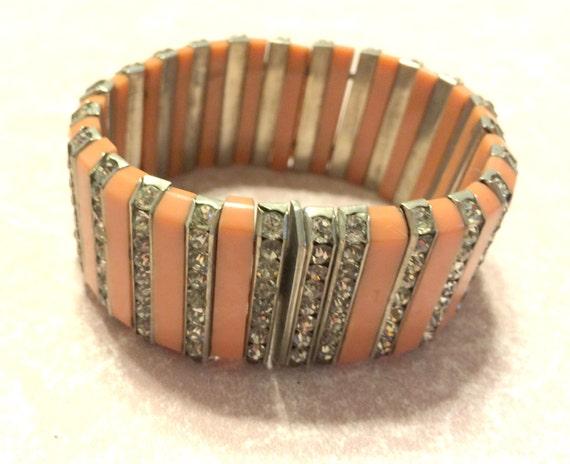 D.R.G.M. Art Deco German Galalith Bracelet