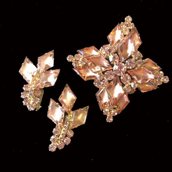 Fabulous Early Juliana Brooch and Earrings
