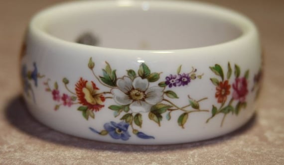 Kenneth Jay Lane KJL Royal Worcester Porcelain Bracelet