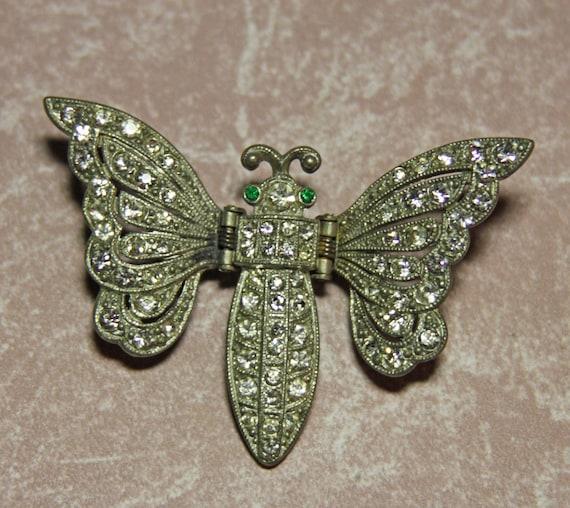Lovely DeRosa Moth Butterfly Clip Brooch