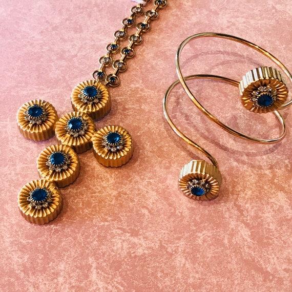Extraordinary Alexis Kirk Cross Pendant necklace and bracelet