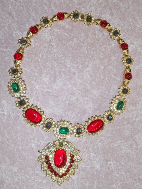KENNETH JAY LANE Jacqueline Kennedy Onassis The Maharani Style Necklace Famous Book Piece