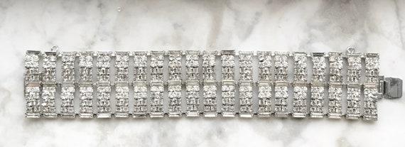 Dazzling Kramer Real Look Diamante 1950's Rhinestone Bracelet