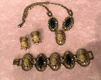 Selro Selini Asian Thai Princess Parure Set - Necklace, bracelet and earrings