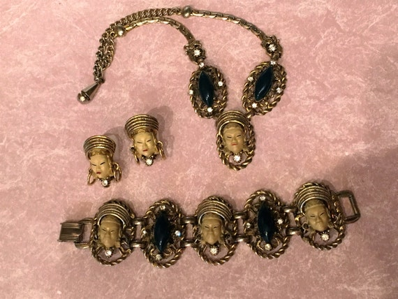 Selro Selini Asian Thai Princess Parure Set - Necklace, bracelet and earrings