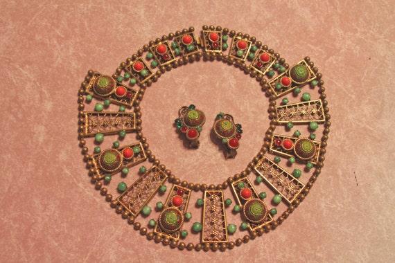 Juliana Ball Chain Design Moroccan Matrix turquoise Necklace, Rarest style