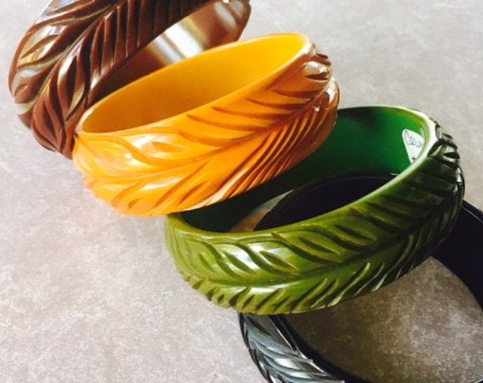 Featured listing image: Vintage Bakelite Rare Matched Set of 4 Bangle Bracelets