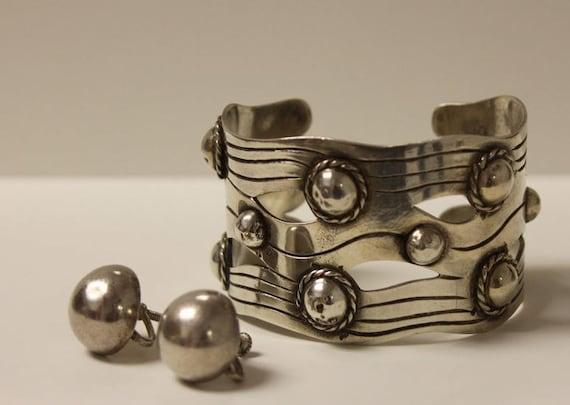 William Spratling Earrings, River of Life Bracelet, Mexican Sterling